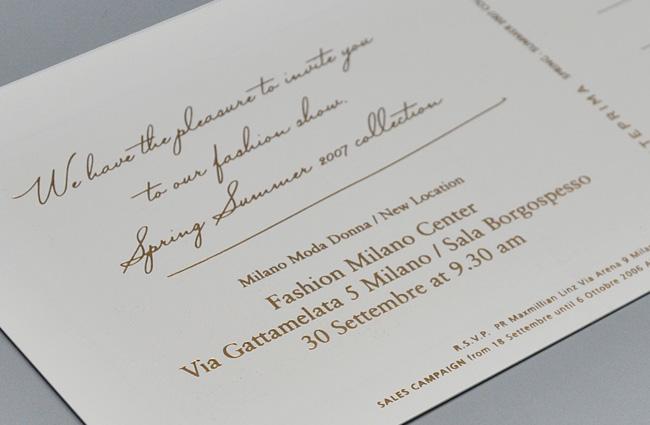 作品イメージ ANTEPRIMA SS07 Milano Collection Invitation kit-03